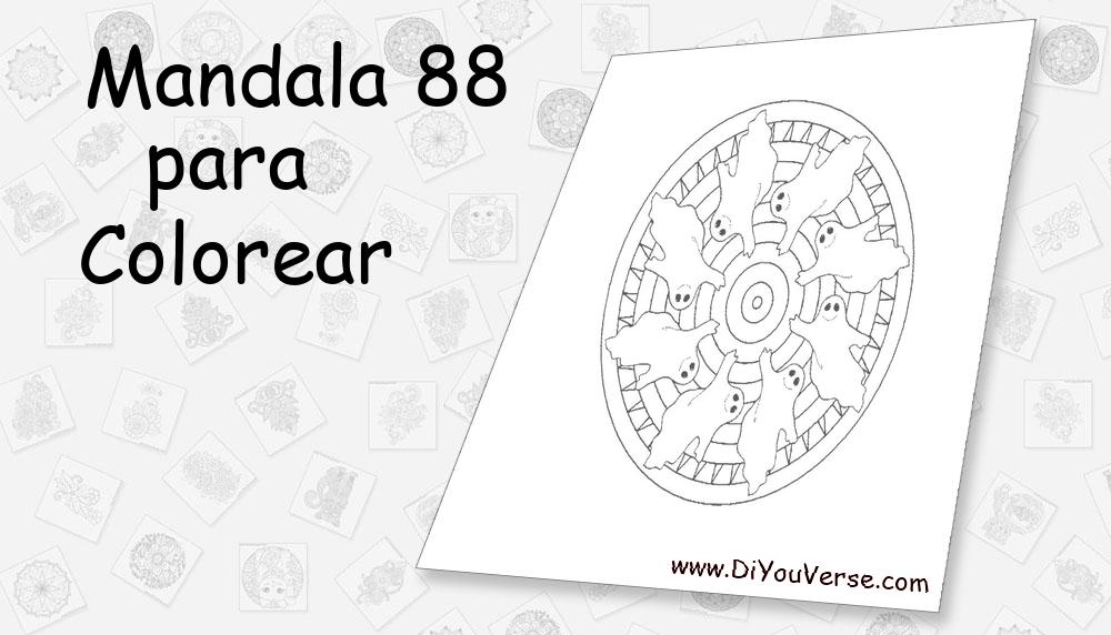Mandala 88 Para Colorear