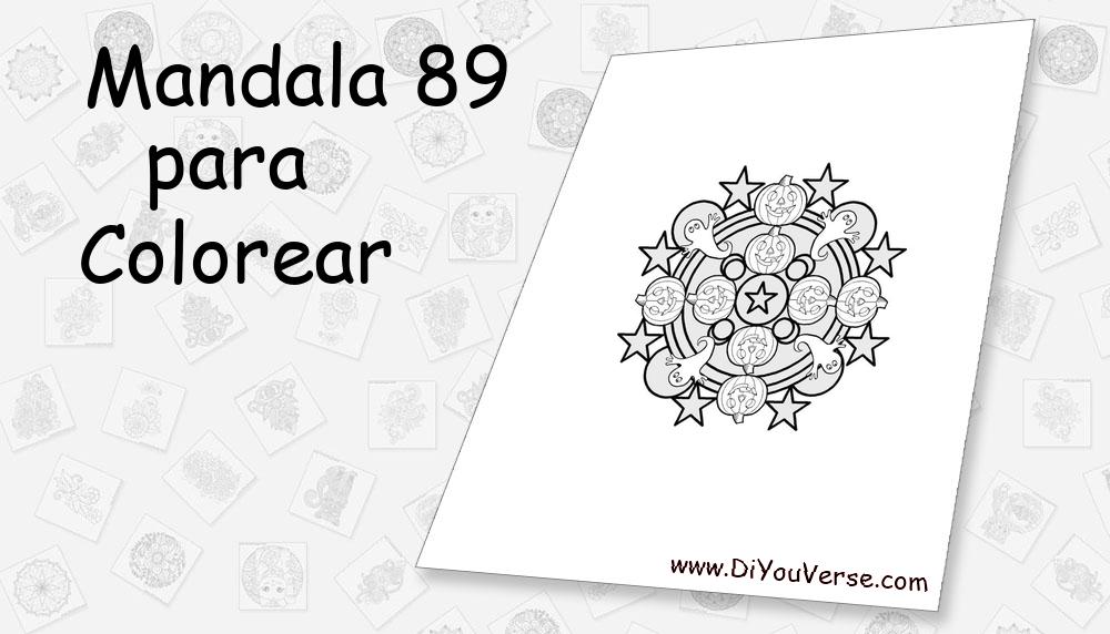 Mandala 89 Para Colorear