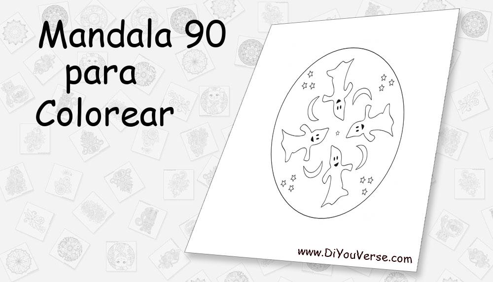 Mandala 90 Para Colorear