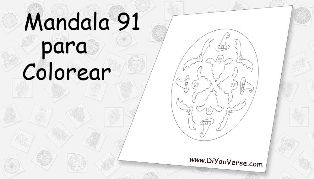 Mandala 91 Para Colorear