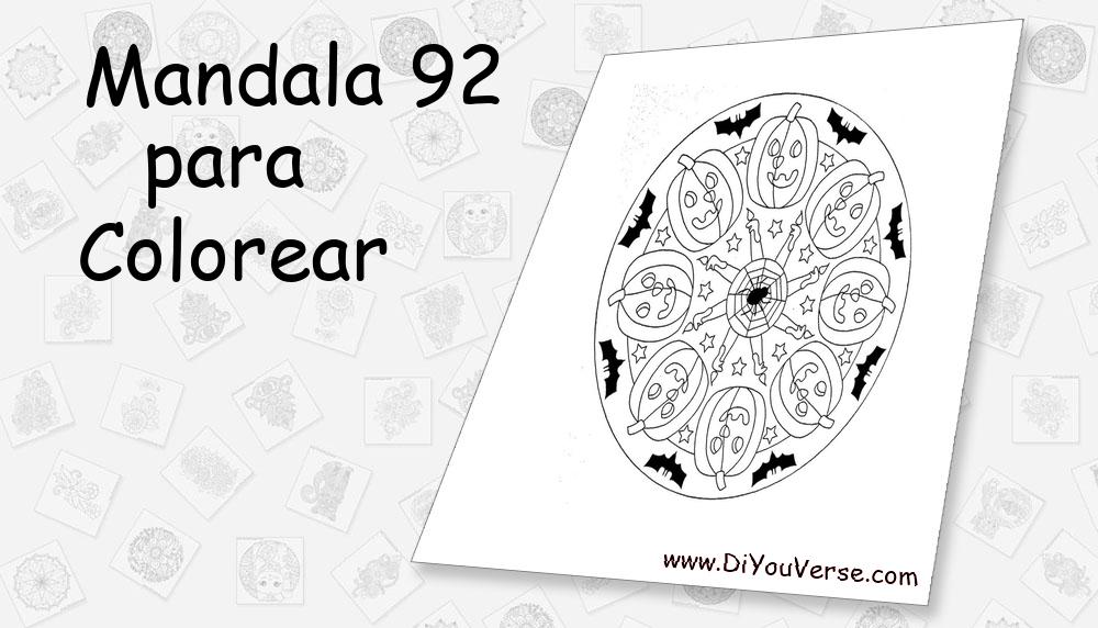 Mandala 92 Para Colorear