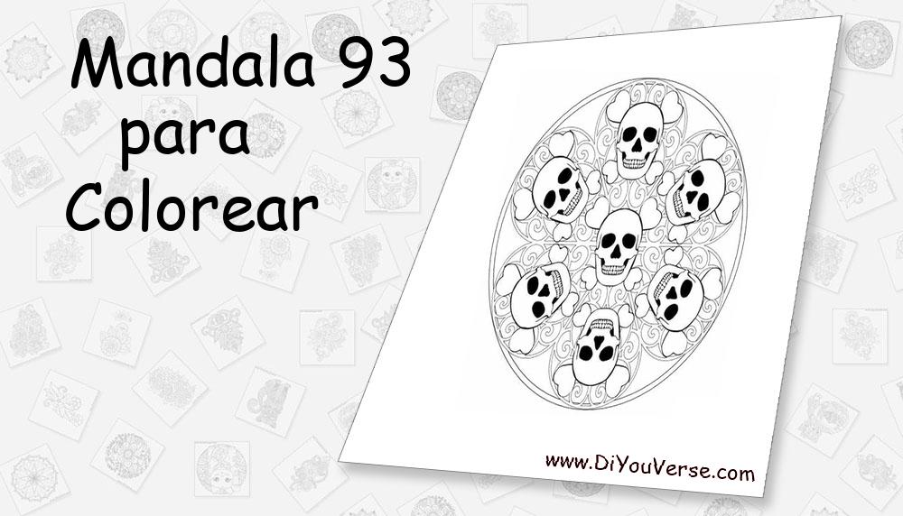 Mandala 93 Para Colorear