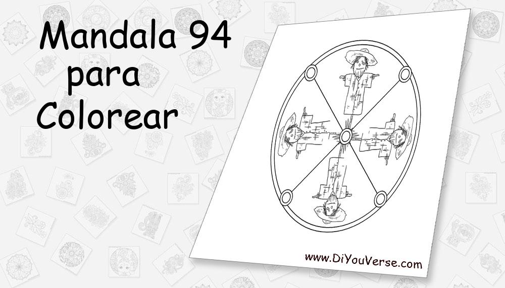 Mandala 94 Para Colorear