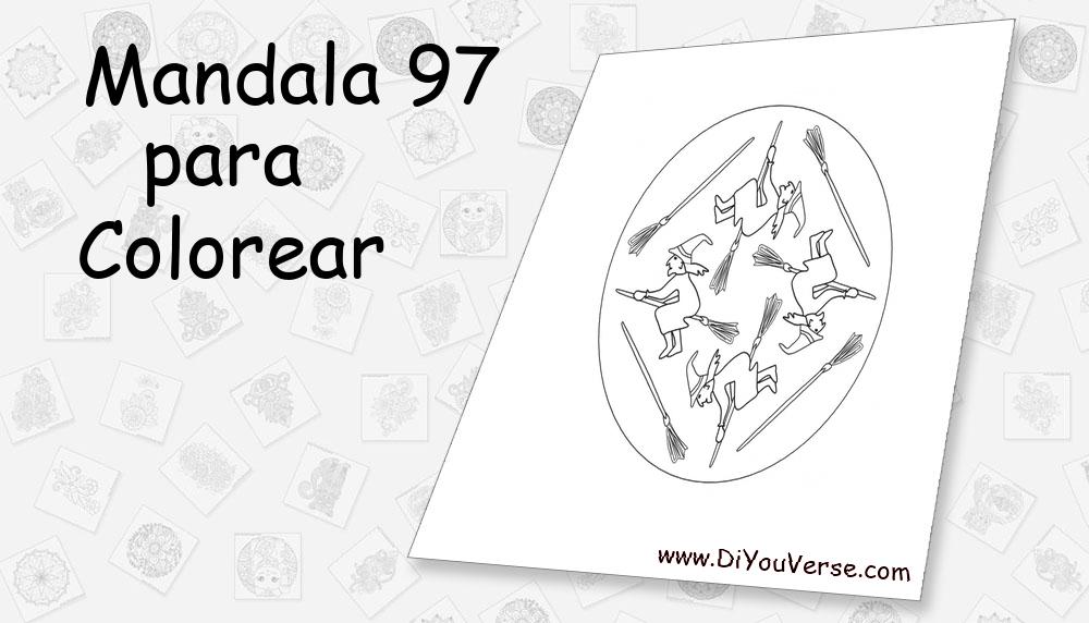 Mandala 97 Para Colorear