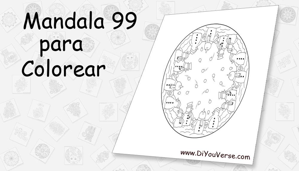 Mandala 99 Para Colorear