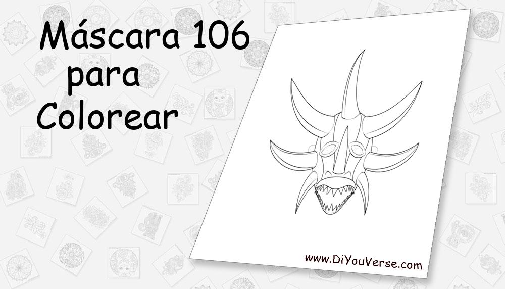 Máscara 106 Para Colorear