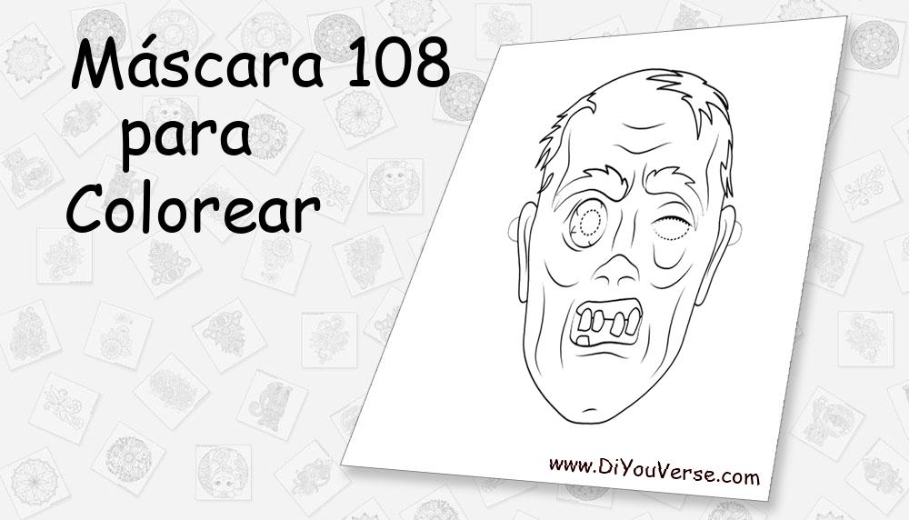 Máscara 108 Para Colorear