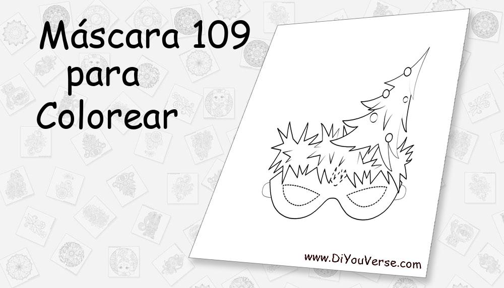 Máscara 109 Para Colorear