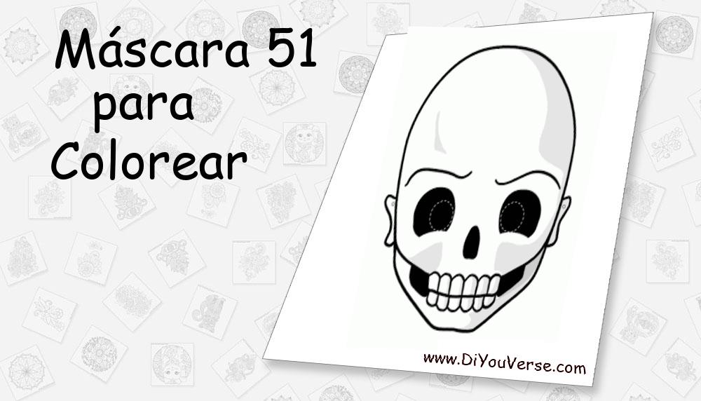 Máscara 51 Para Colorear