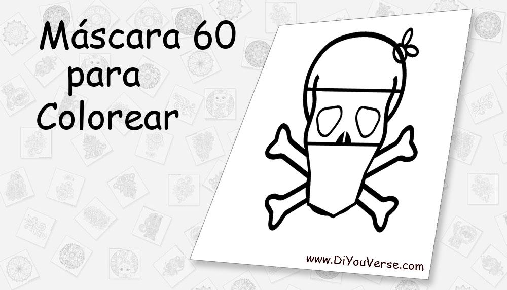 Máscara 60 Para Colorear