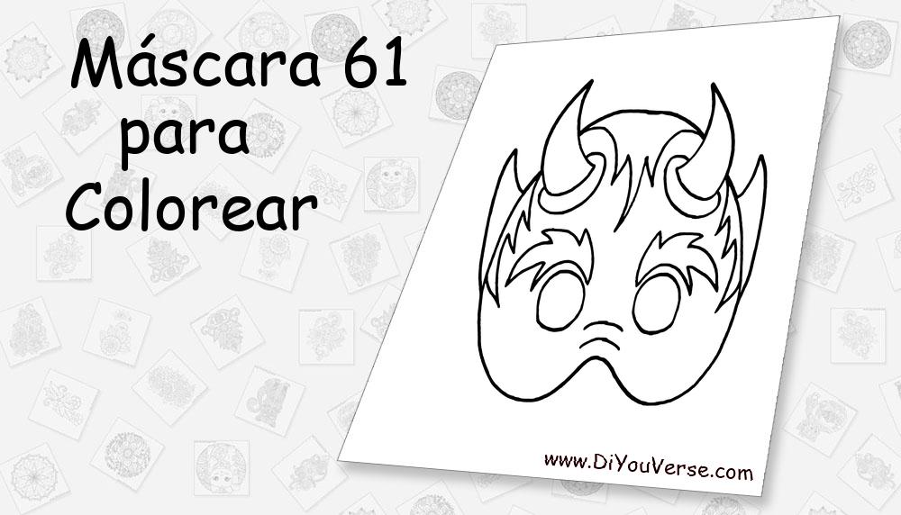 Máscara 61 Para Colorear
