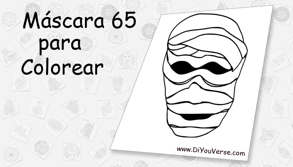 Máscara 65 Para Colorear