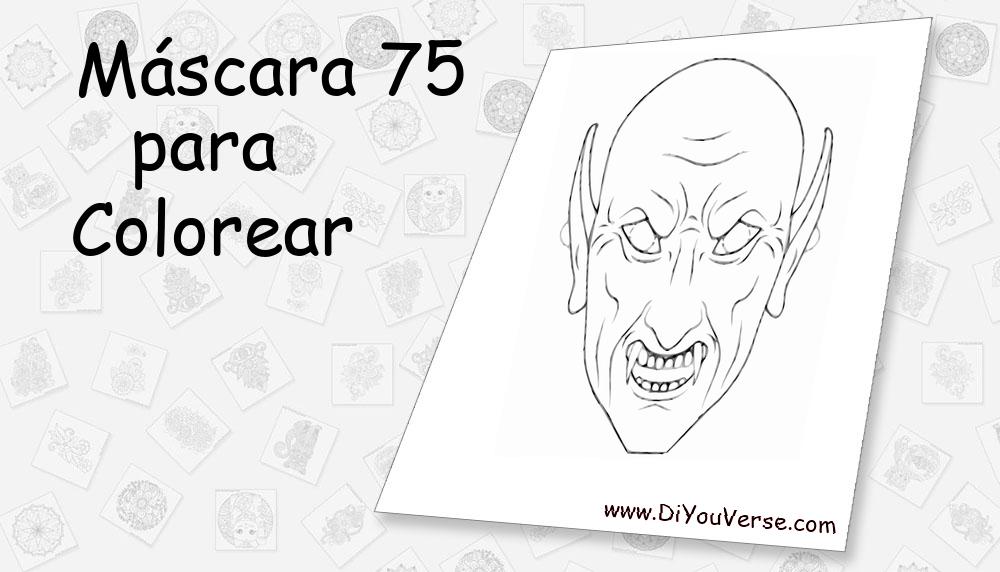 Máscara 75 Para Colorear