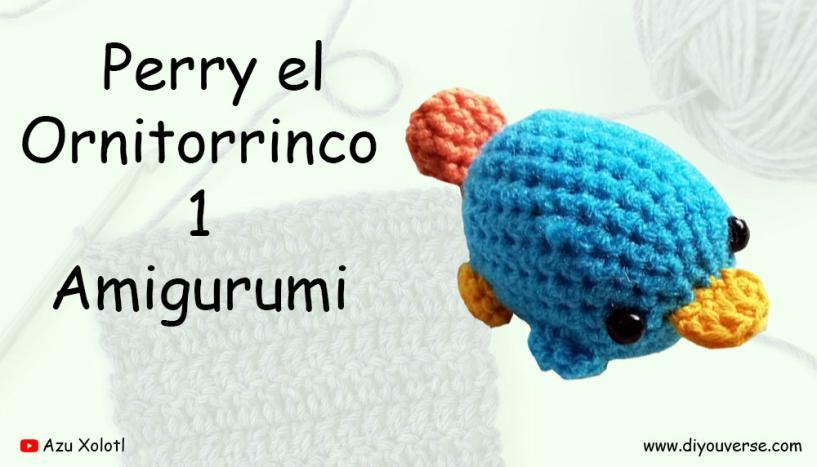 Perry el Ornitorrinco 1 Amigurumi