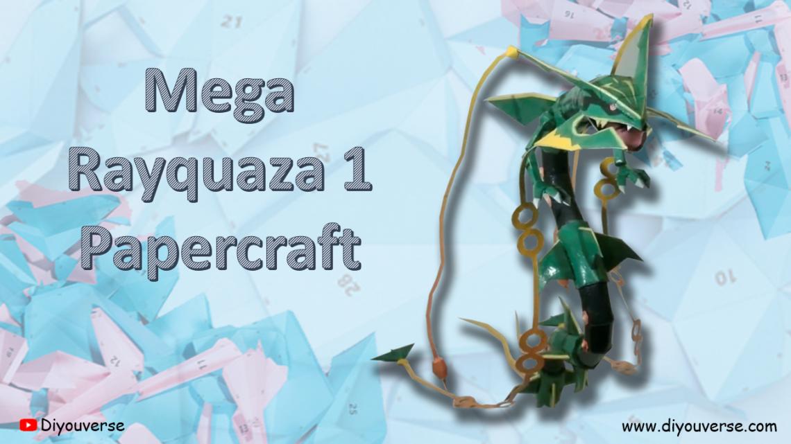 Mega Rayquaza 1 Papercraft