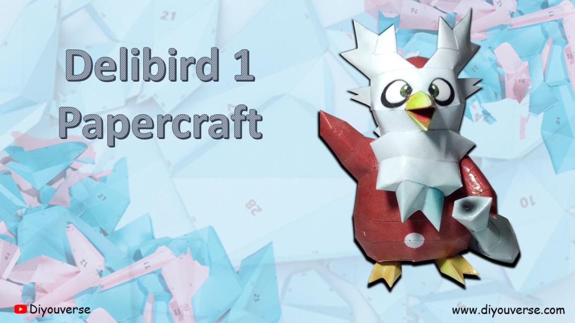 Delibird 1 Papercraft