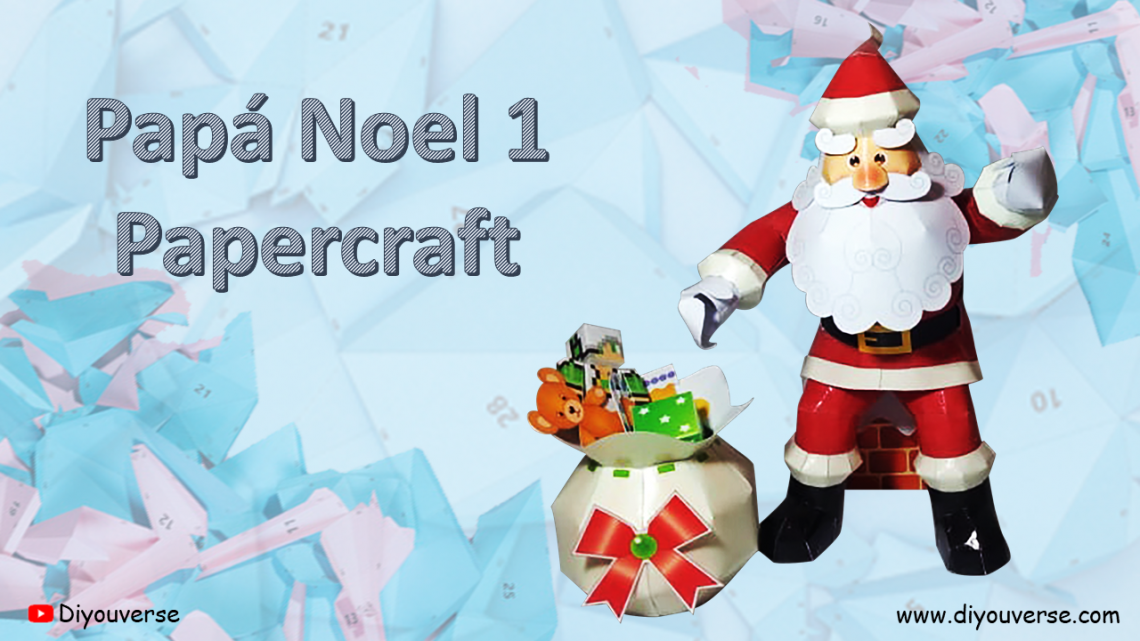 Papá Noel 1 Papercraft