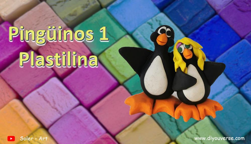 Pingüinos Plastilina