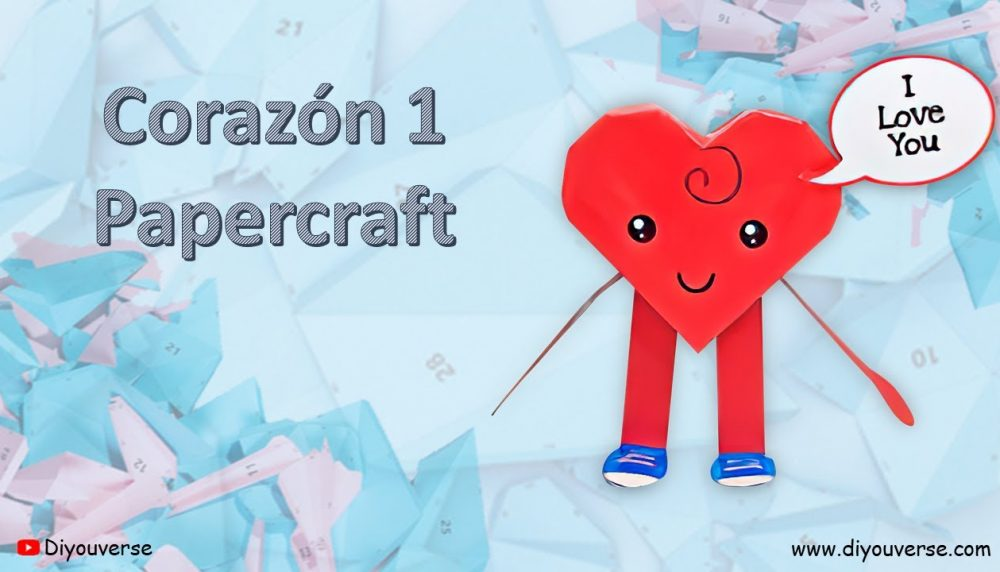 Corazón 2 Papercraft