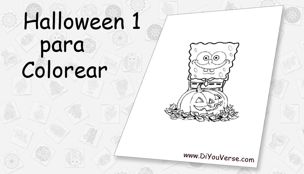 Halloween 1 Para Colorear
