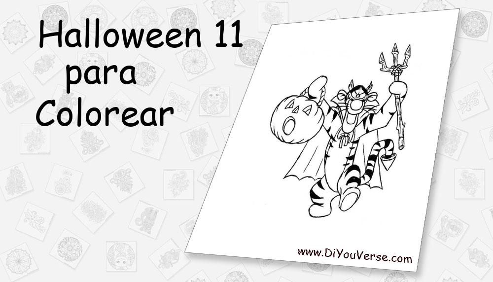 Halloween 11 Para Colorear
