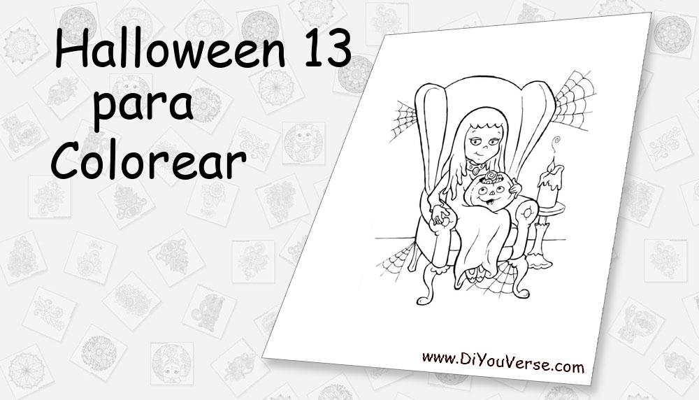 Halloween 13 Para Colorear
