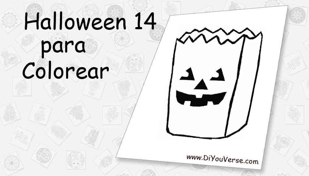 Halloween 14 Para Colorear
