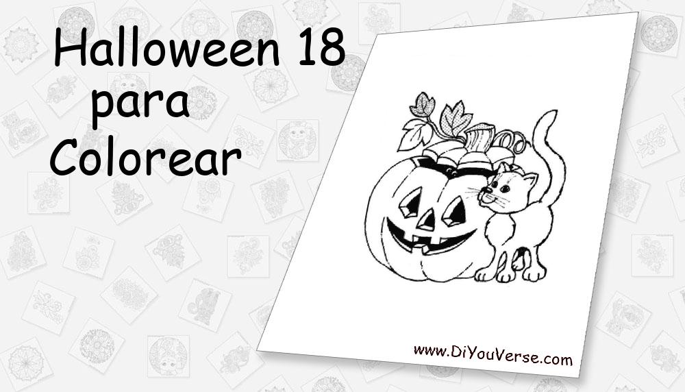 Halloween 18 Para Colorear
