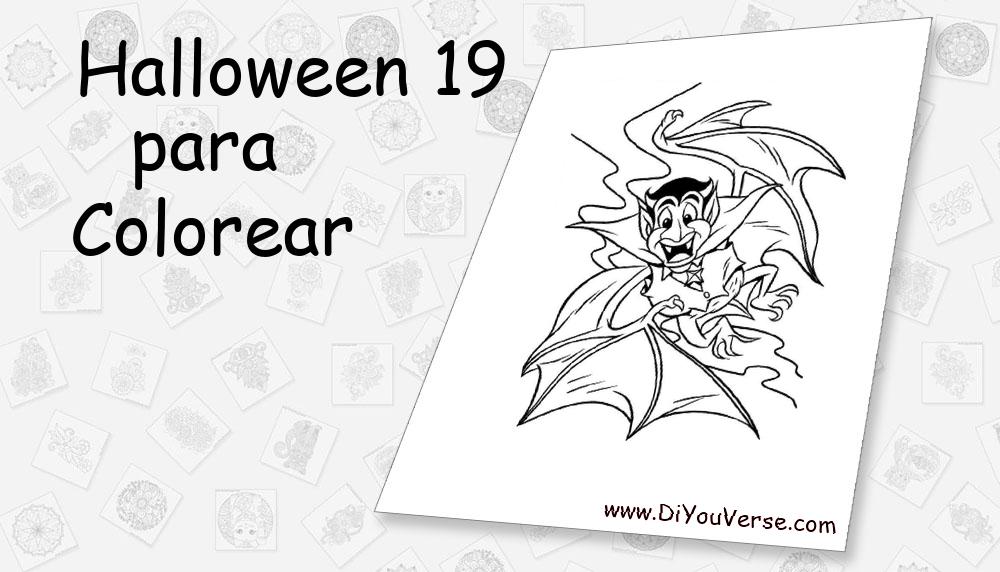 Halloween 19 Para Colorear