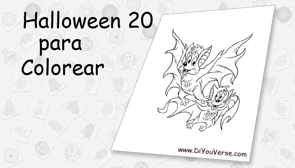 Halloween 20 Para Colorear
