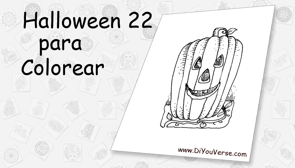Halloween 22 Para Colorear