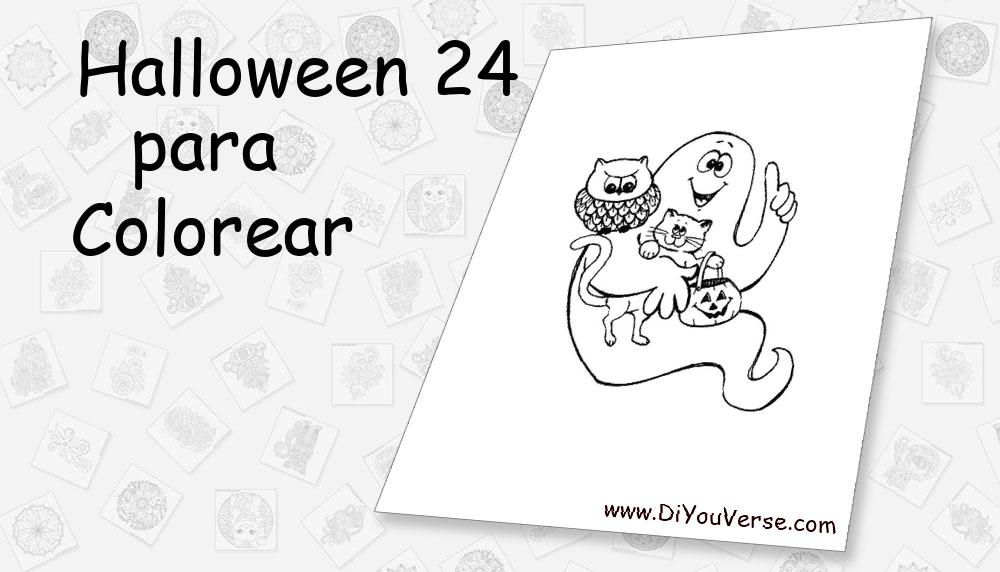 Halloween 24 Para Colorear