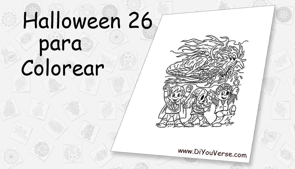 Halloween 26 Para Colorear
