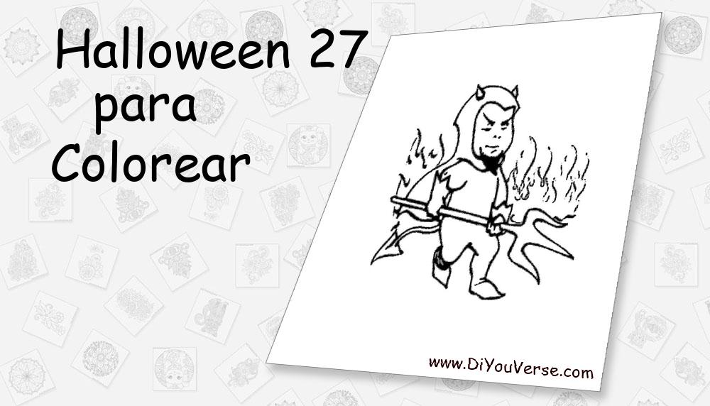 Halloween 27 Para Colorear