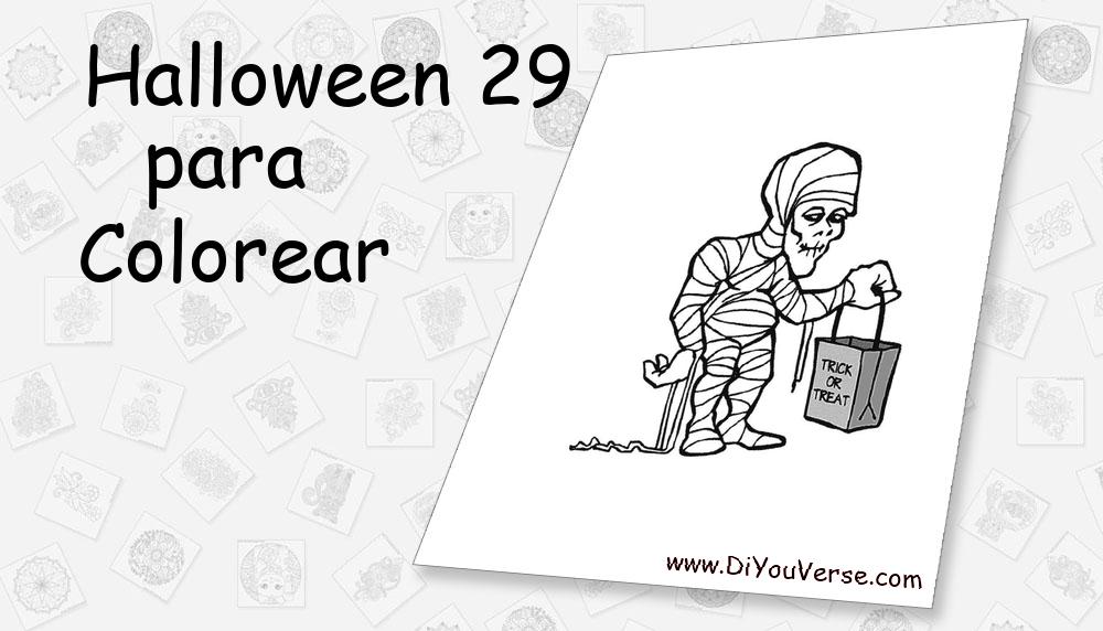 Halloween 29 Para Colorear