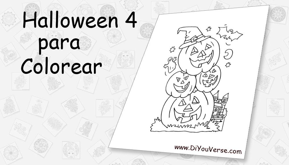 Halloween 4 Para Colorear