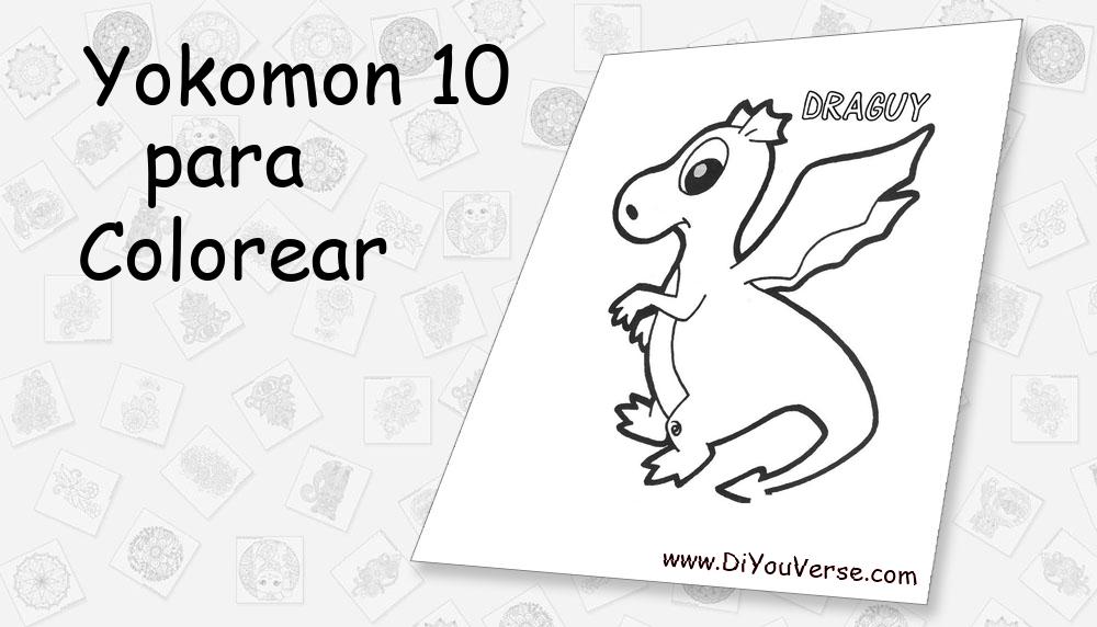 Yokomon 10 Para Colorear