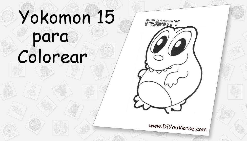 Yokomon 15 Para Colorear