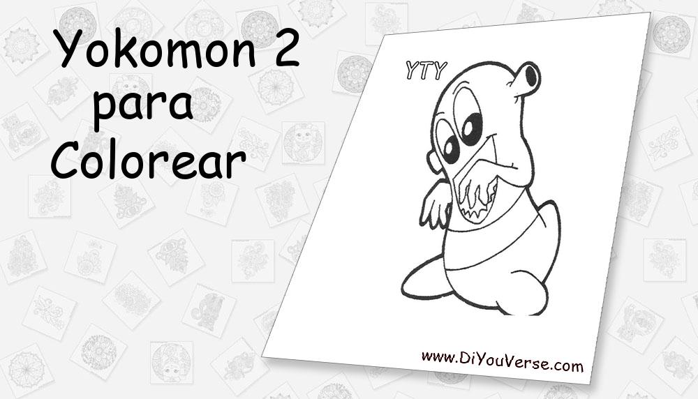 Yokomon 2 Para Colorear