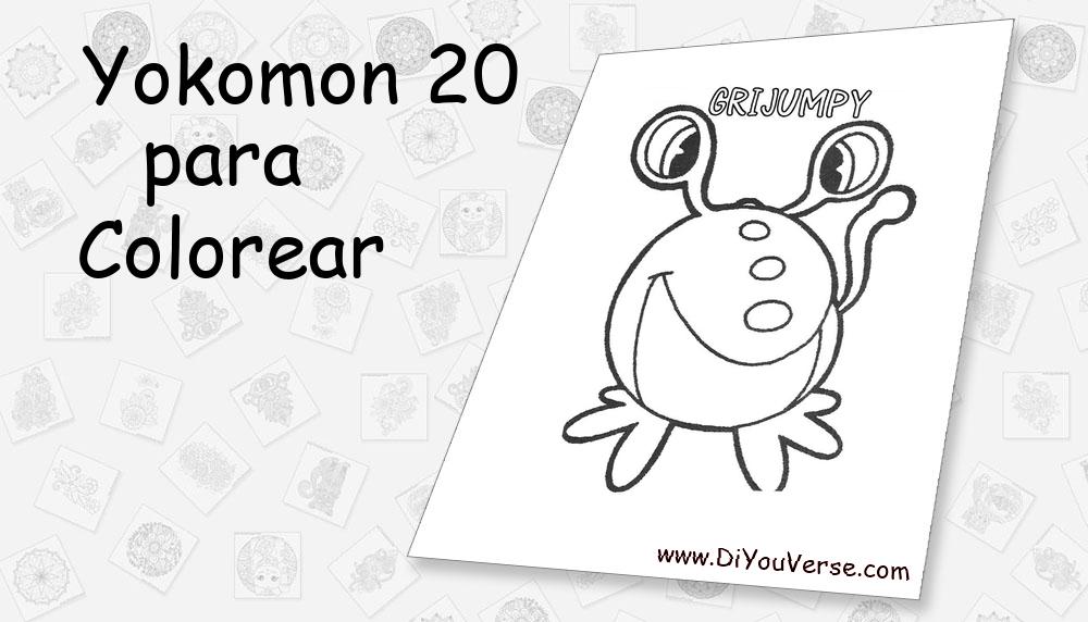 Yokomon 20 Para Colorear