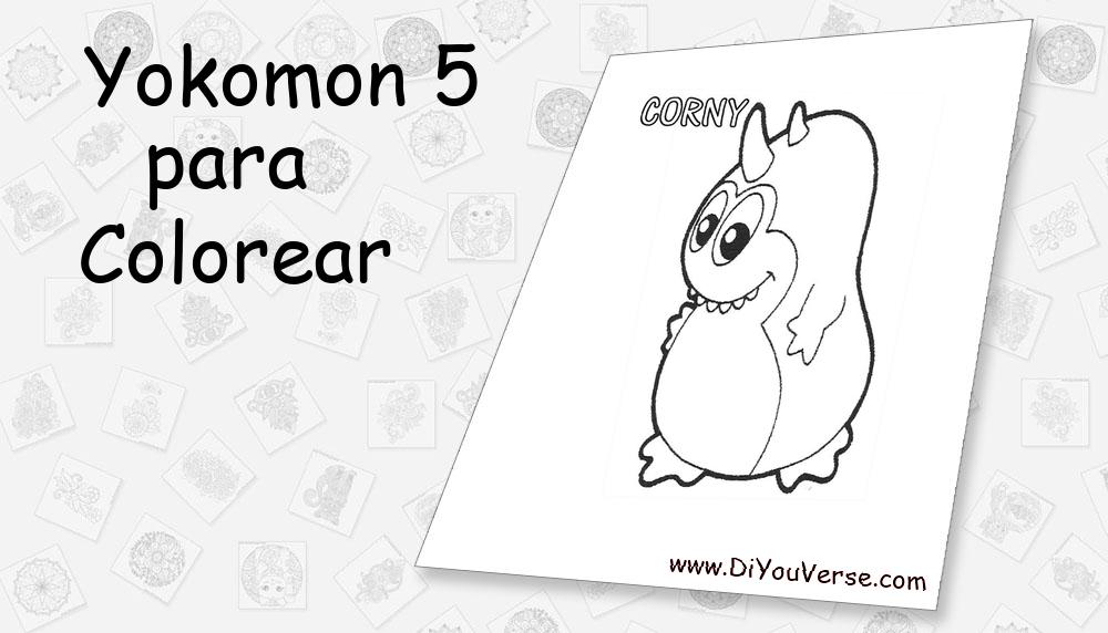 Yokomon 5 Para Colorear