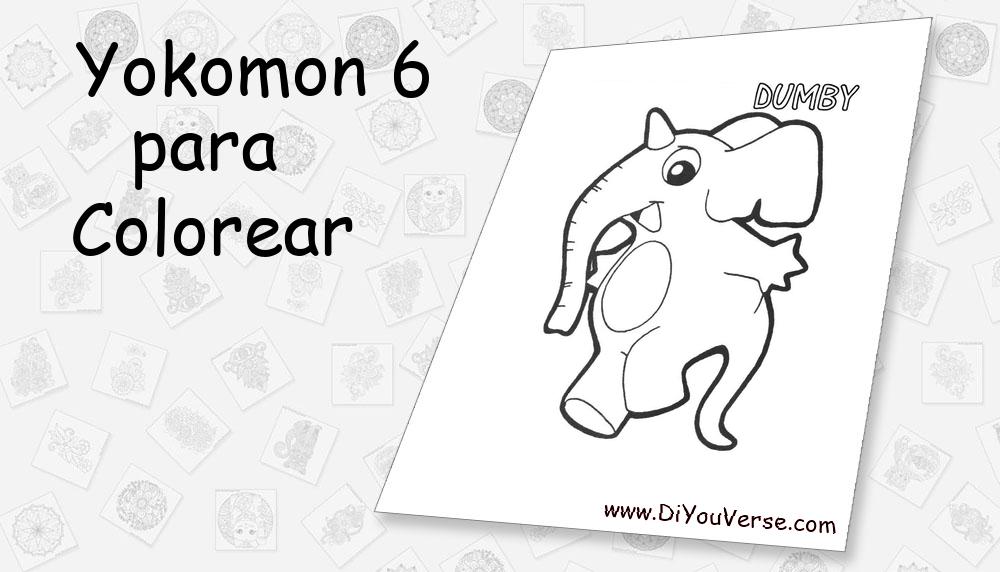 Yokomon 6 Para Colorear