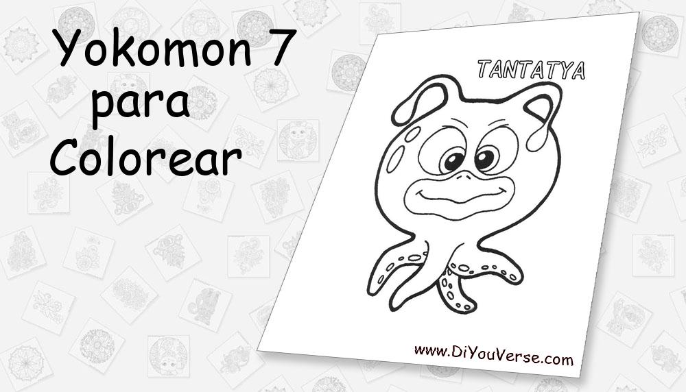 Yokomon 7 Para Colorear