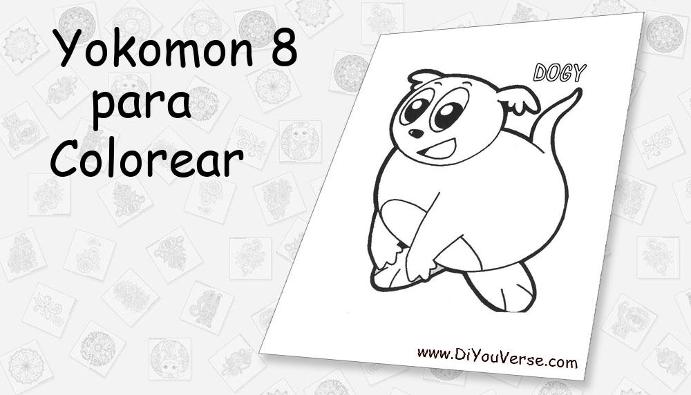 Yokomon 8 Para Colorear