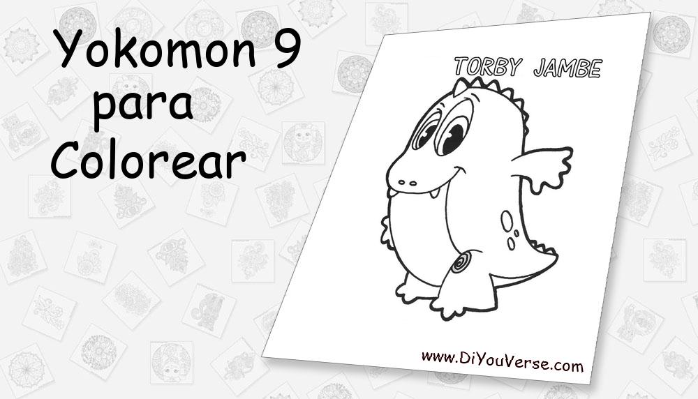 Yokomon 9 Para Colorear